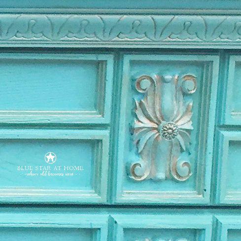 Copper glaze over Azure Blue Star Clear Glaze