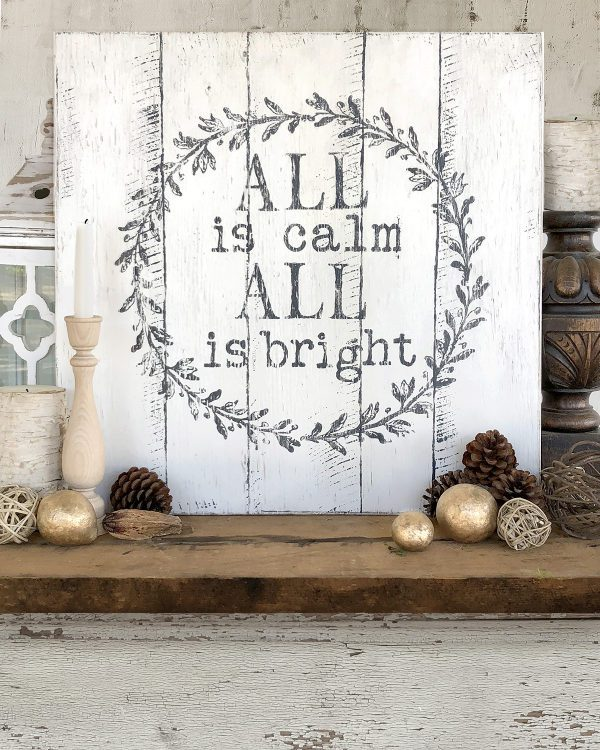IOD Calm and Bright 3 1 Barnwood Plank Stamp