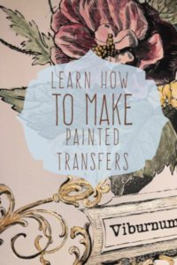 how to paint an IOD transfer