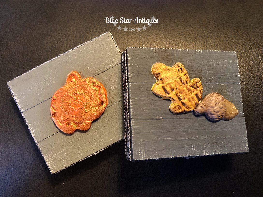 BLUE STAR ANTIQUES IOD CLAY STAMPS MOULDS IOD for the Win with Cute Fall Decor