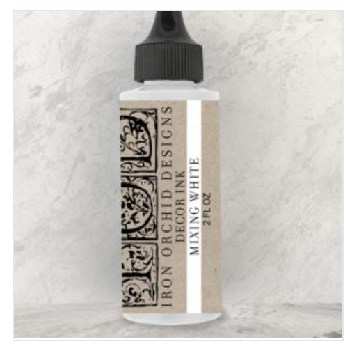 white mixing decor ink