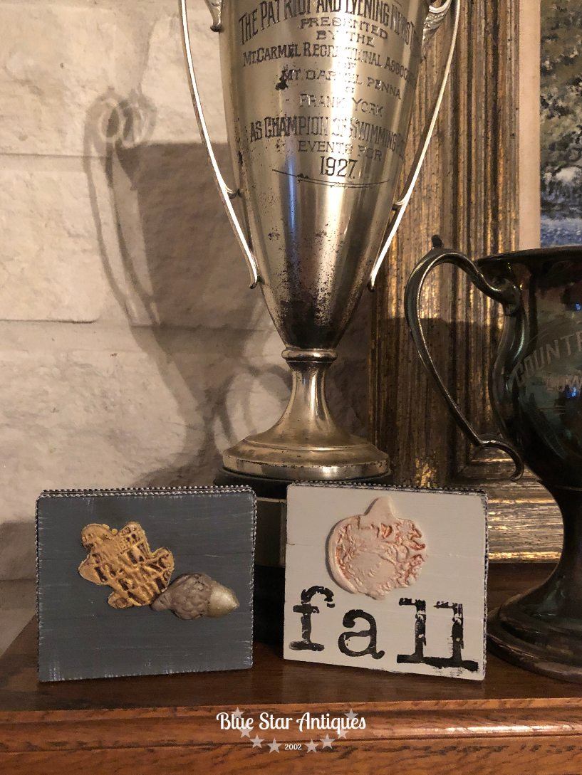 blue star antiques IOD Fusion stamps IOD for the Win with Cute Fall Decor