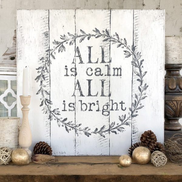 IOD Calm and Bright blue star antiques Stone Gray Decor Ink