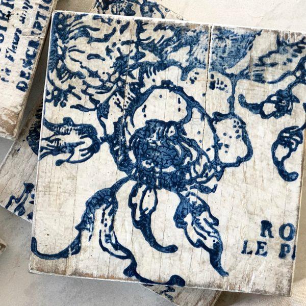 IOD china blue coasters blue star antiques China Blue Decor Ink