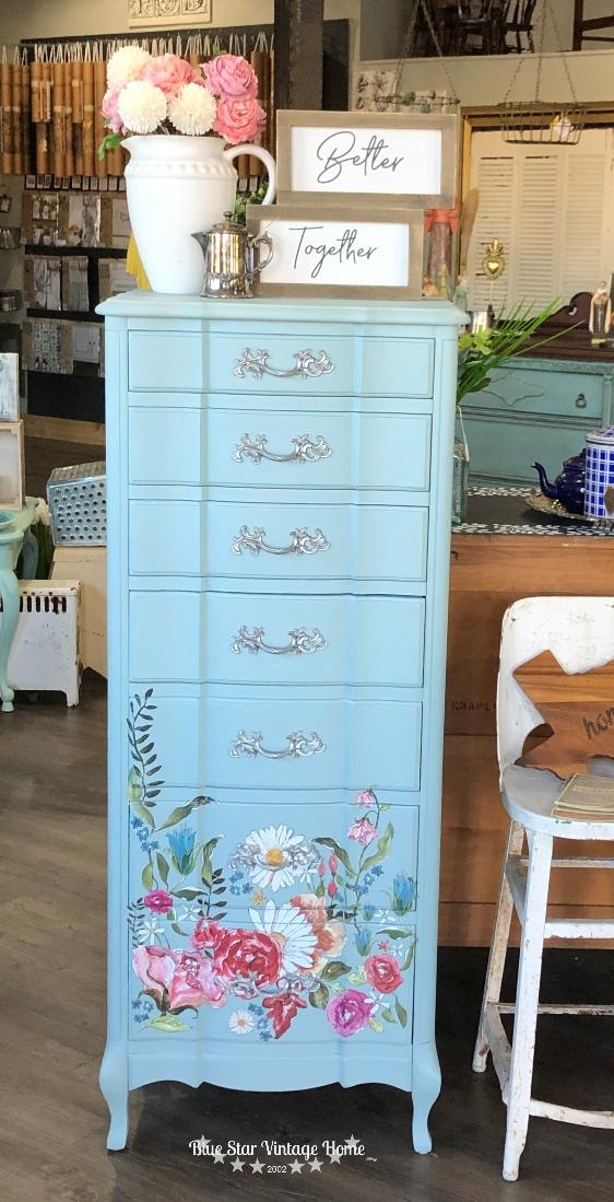 blue star vintage home french eggshell Wander Transfer - new format