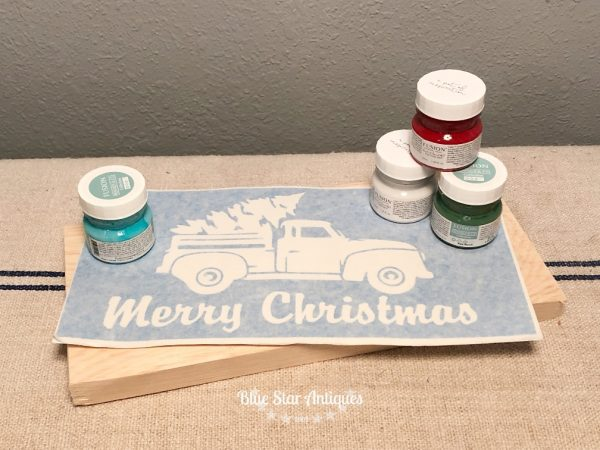 holiday sign stencil kit blue star antiques Holiday Sign Stencil Kit