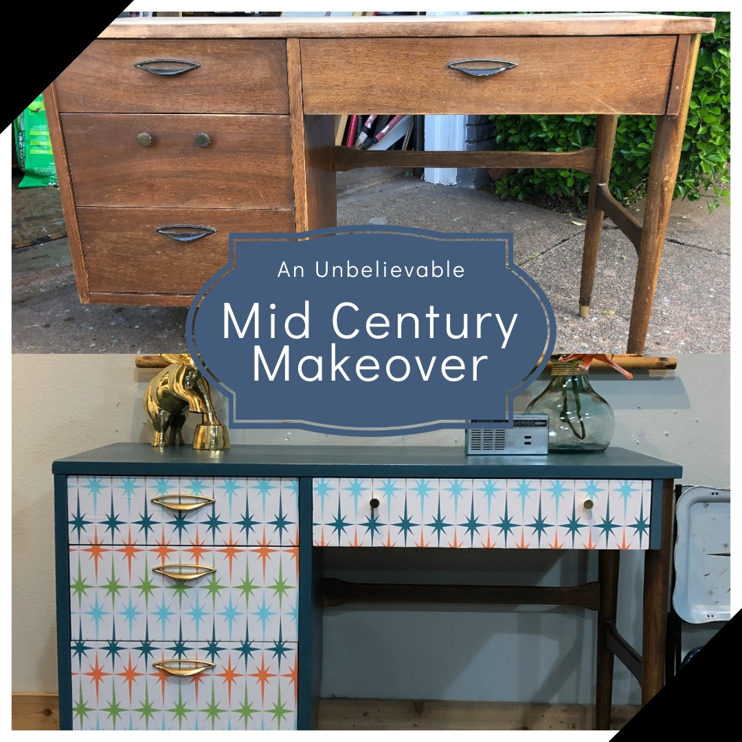 Blue Star Vintage Home Mid century makeover An Unbelievable Mid Century Makeover
