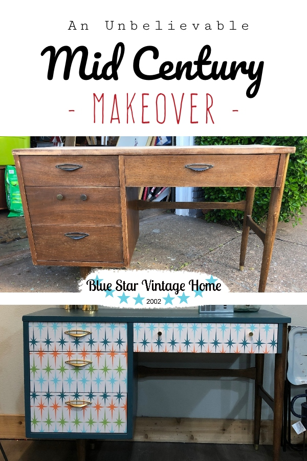 mid century makeover blue star vintage home An Unbelievable Mid Century Makeover