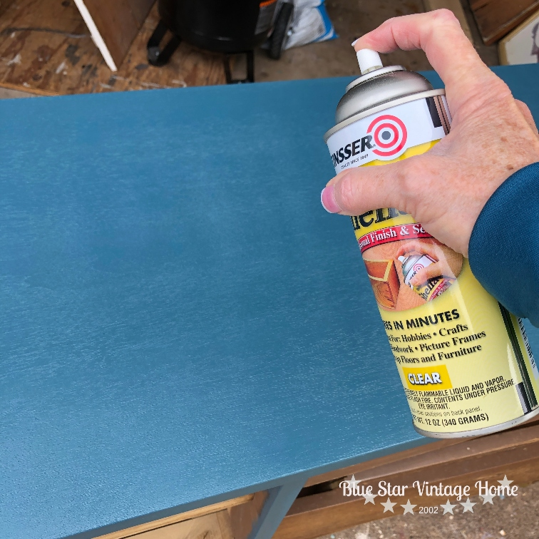 spray shellac An Unbelievable Mid Century Makeover