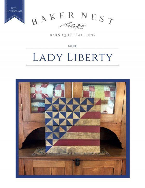Lady Liberty barn quilt pattern