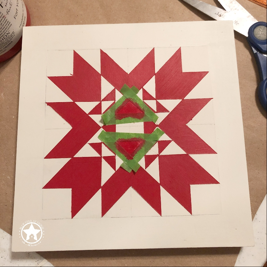 blue star at home tape Four Easy Steps to Paint a Barn Quilt