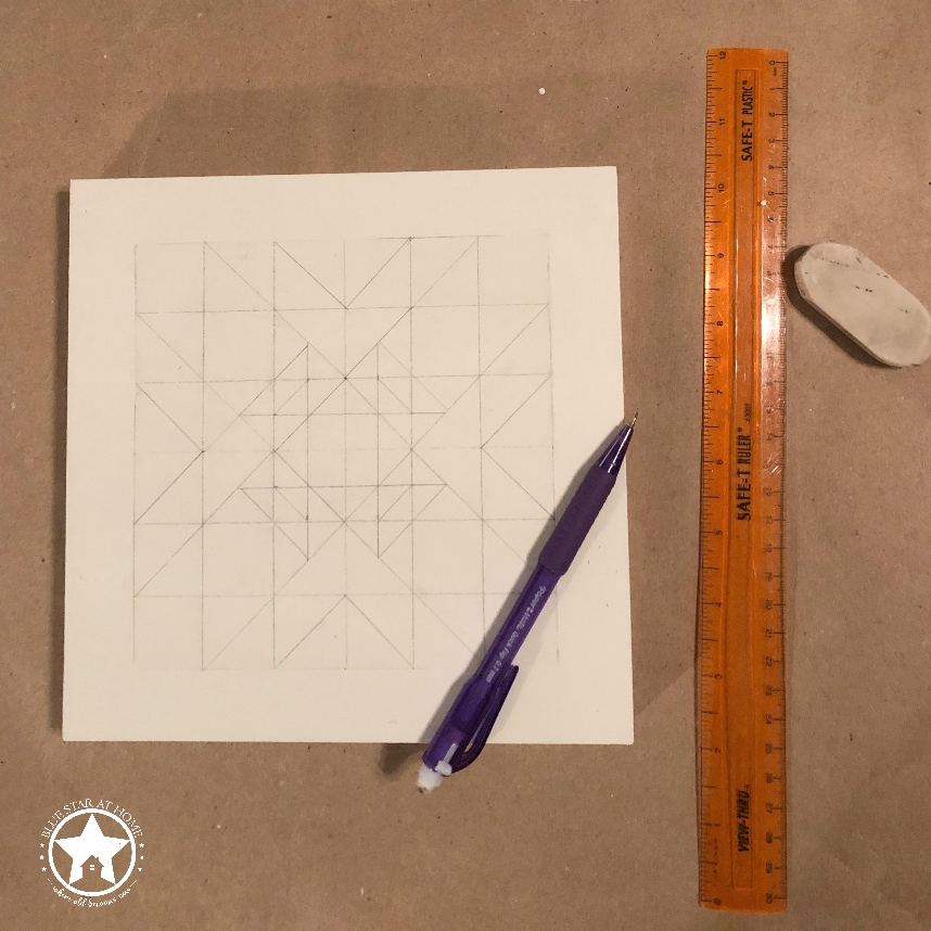 blue star quilt grid Four Easy Steps to Paint a Barn Quilt
