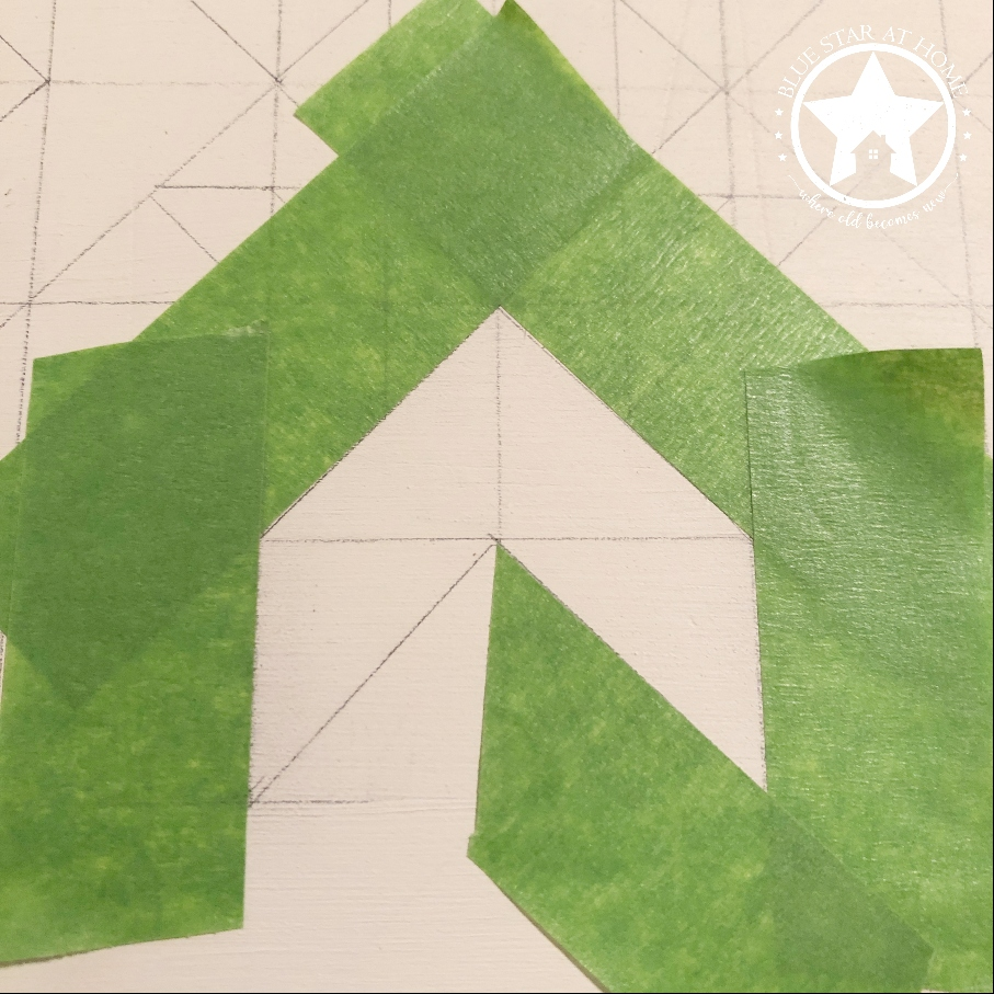 blue star tape Four Easy Steps to Paint a Barn Quilt