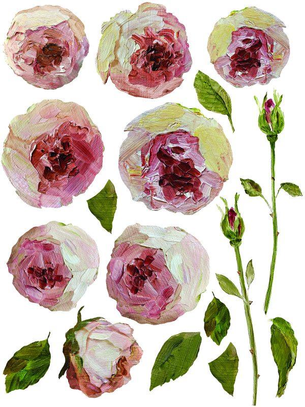 IOD DT Painterly Florals 6 Painterly Florals Transfer