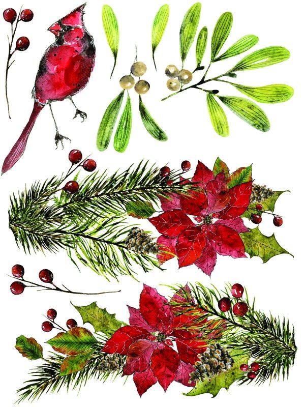 IOD Woodland Christmas 5 Woodland Christmas Transfer