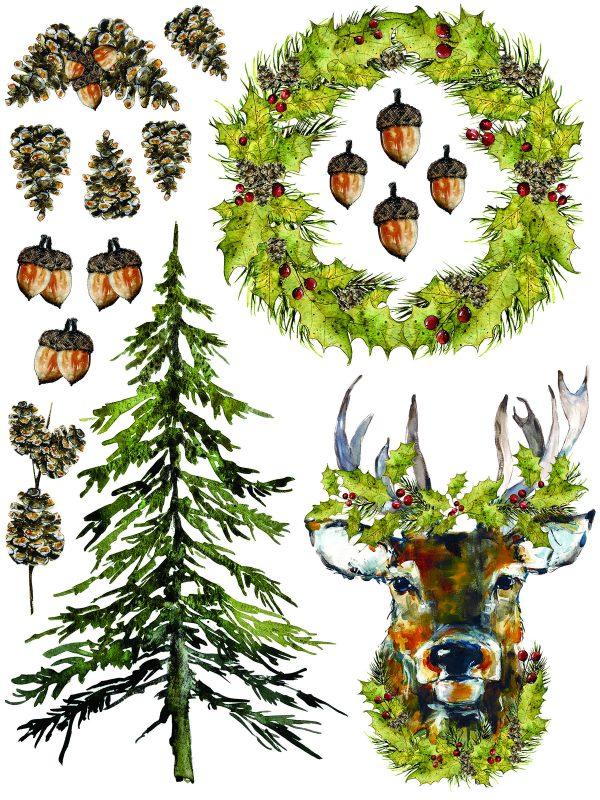 IOD Woodland Christmas 8 Woodland Christmas Transfer