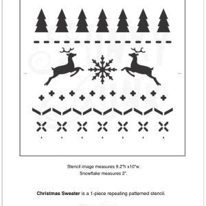 christmas sweater stencil