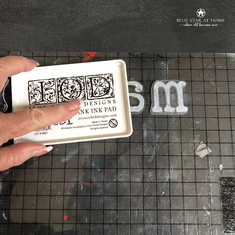 blue star ink stamp How to Stamp a Chalkboard