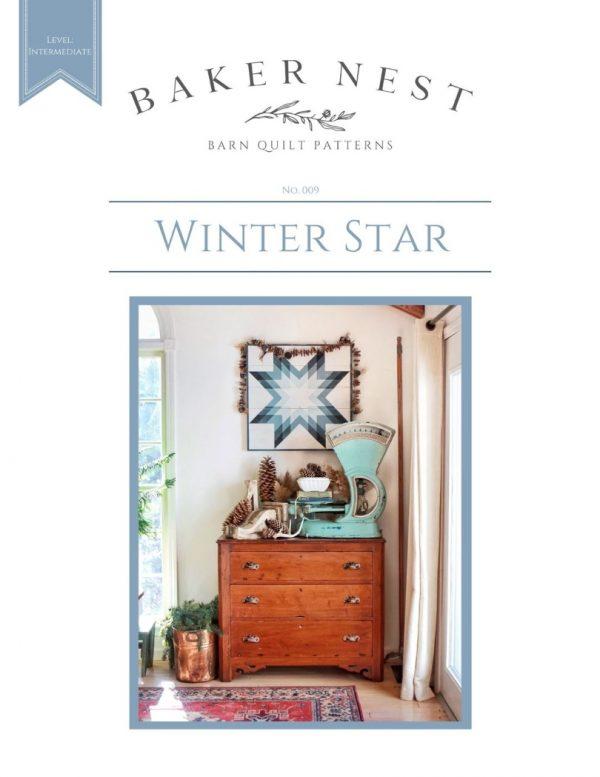 Winter Star Barn Quilt