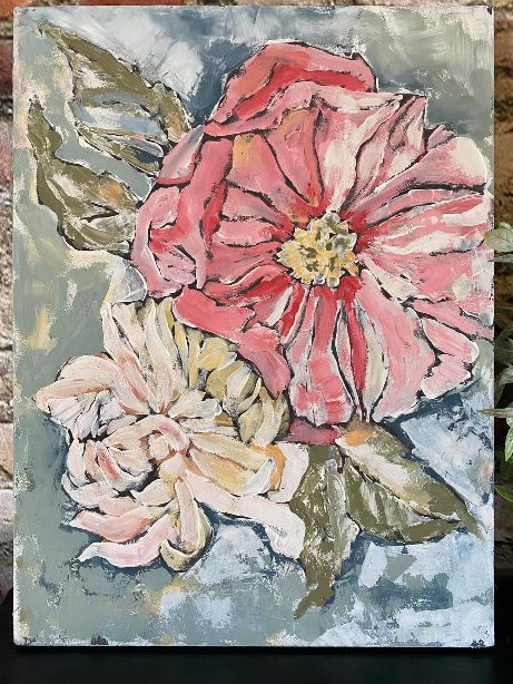 painted peonies