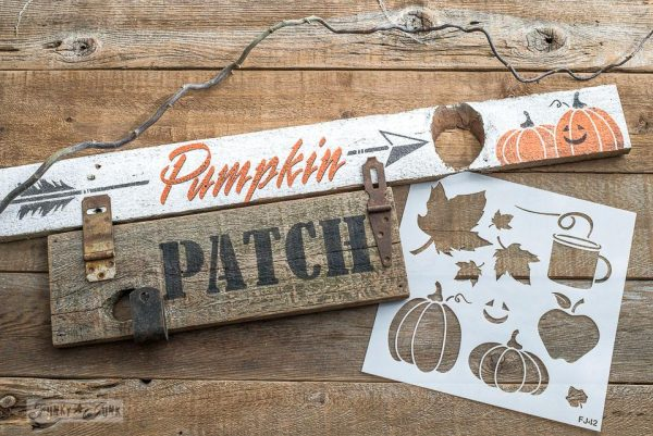 2018 chippy white fall arrow signs Fall Graphics Stencil