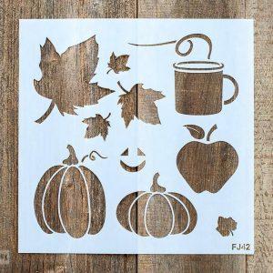 Fall Graphics Stencil