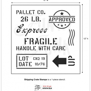 shipping crate stamp stencil