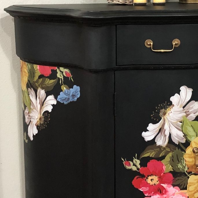 blue star floral cabinet Four Steps to a Brushstroke Free Finish