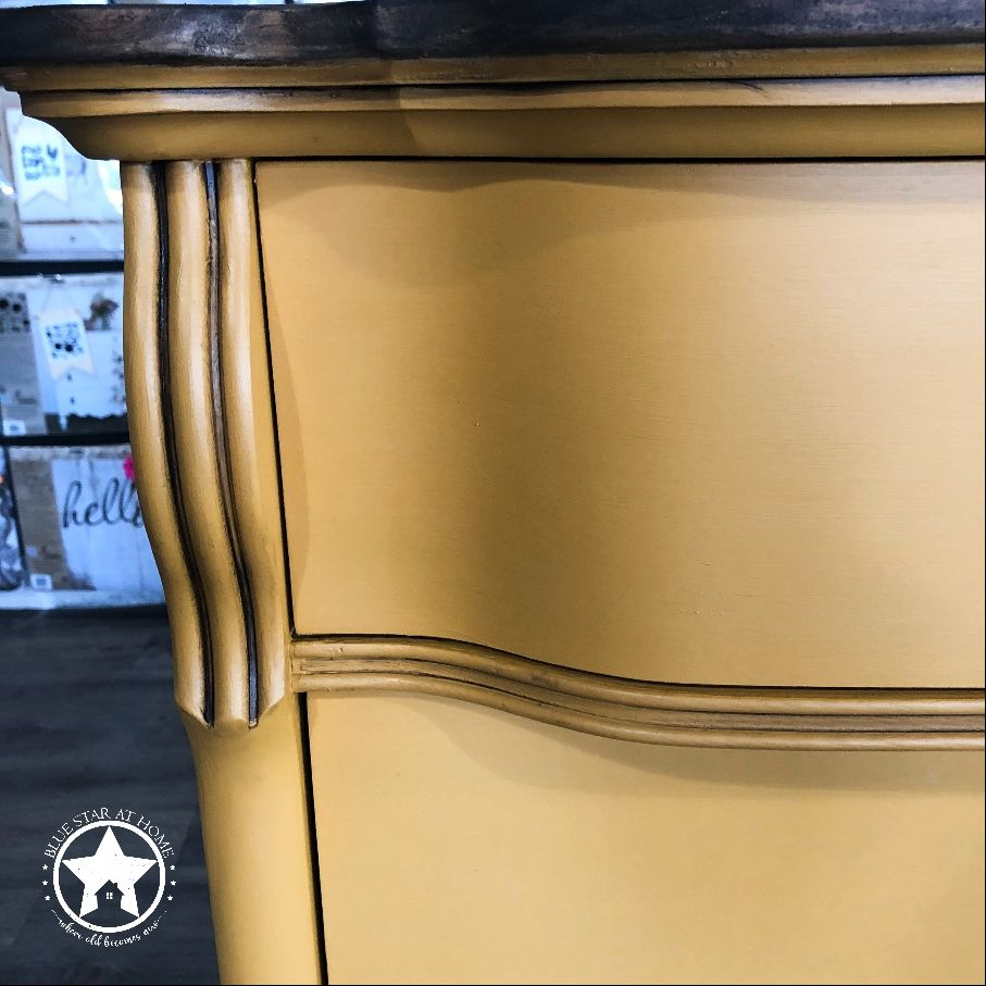 blue star mustard cappuccino Four Steps to a Brushstroke Free Finish