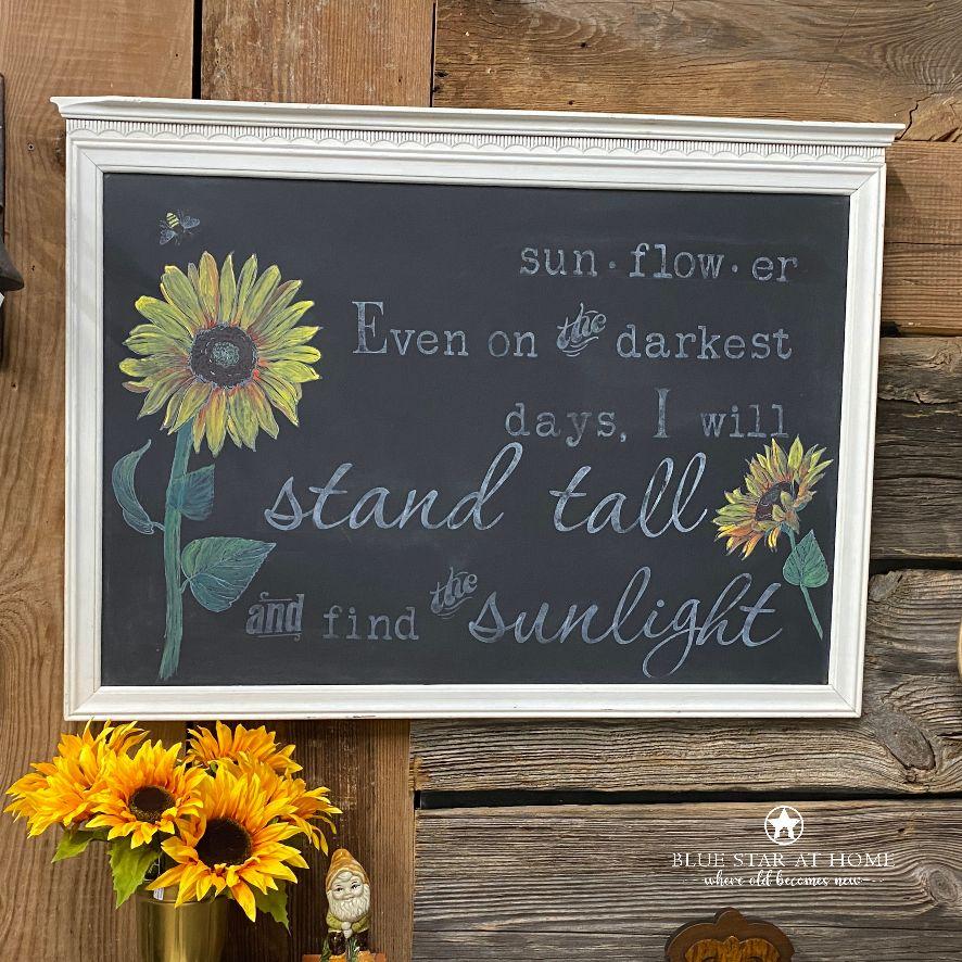 sunflower chalkboard