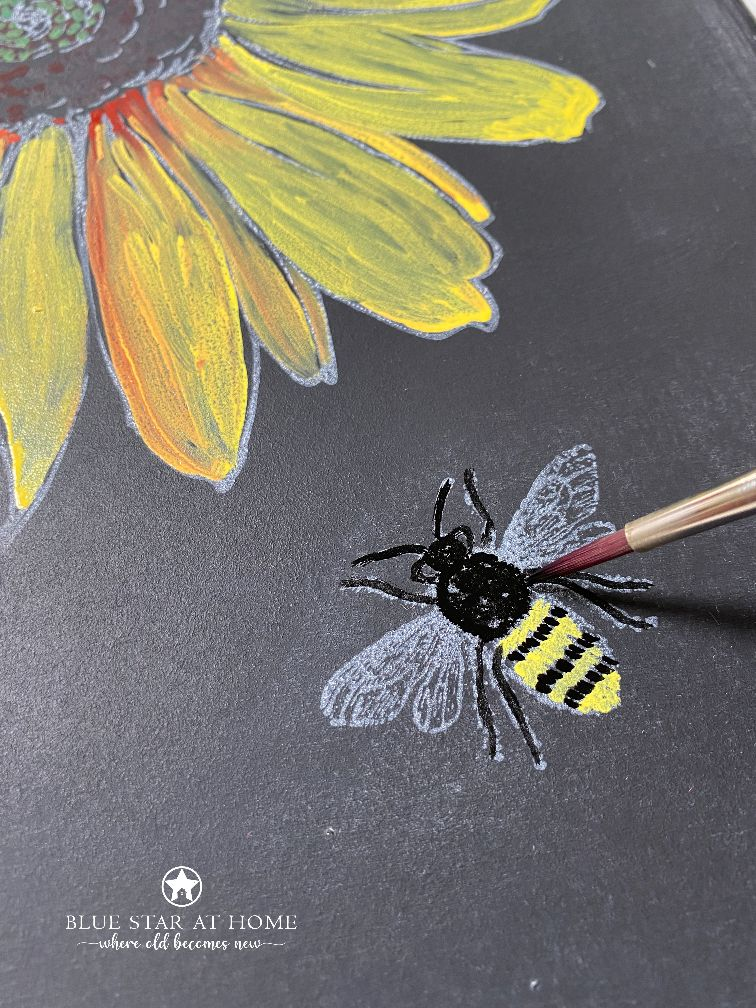 painting bee chalk