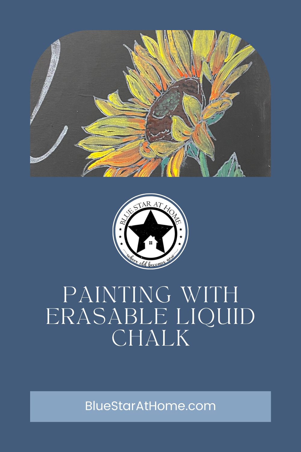 painting with liquid chalk