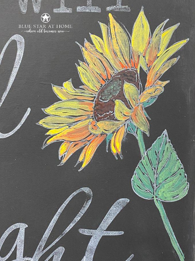 erasable liquid chalk sunflower