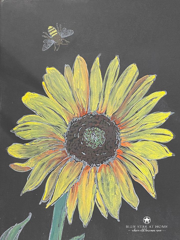 erasable chalk sunflower